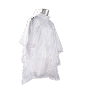 Regn poncho med hette transparent regnponcho