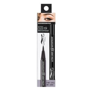 Eyeliner black ultra thin fine waterproof long lasting 12t