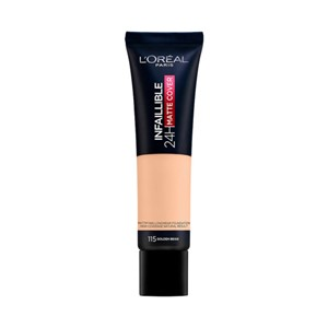 Foundation matte 115 golden beige 24h Infallible