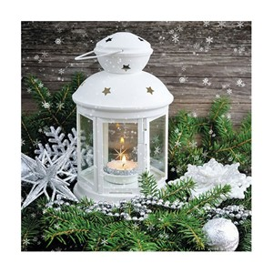 Serviett x-mas atmosphere jul 33x33cm 20pk gavetilhenne