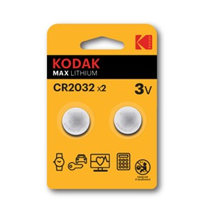 Batteri ultra litium Cr2032 3V 2pk kodak