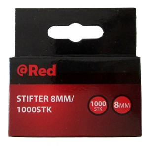 Stift  8mm pk.1000 Red stifter til stiftepistol