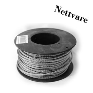 Wire 6mm SF316 50meter hel spole NETTVARE
