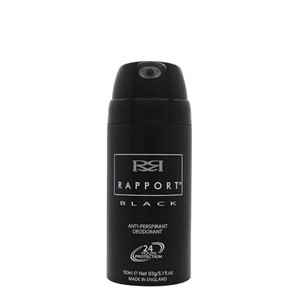Deo Spray 150ml Rapport Men Sort Herre 24 timer