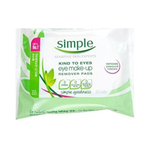 Simple eye cleaning pads