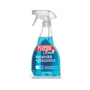 Spray keramikk & glassrens 500ml Plumbo Clean blå keramisk